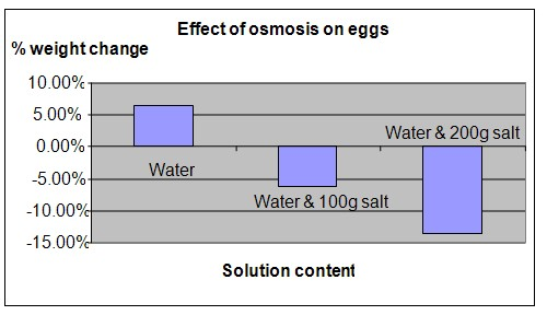 Osmosis in Eggs science project